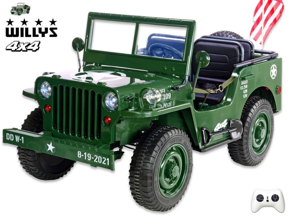 Jeep Willys 1941 Zelený